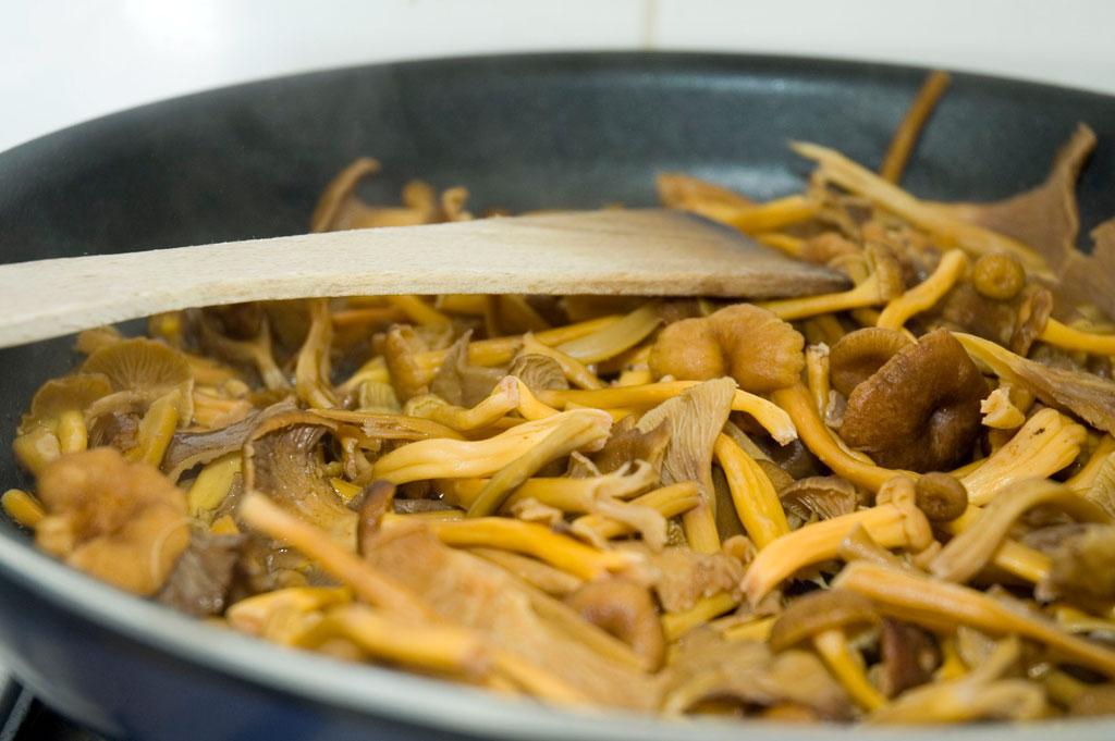 Cuisine de Chanterelles en Tube